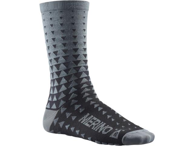 Mavic Ksyrium Merino Graphic Socken asphalt/black